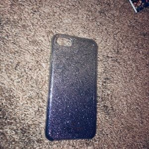 Kate Spade purple/silver glitter iPhone 6 case